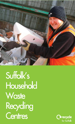 Front of recycling centres leaflet