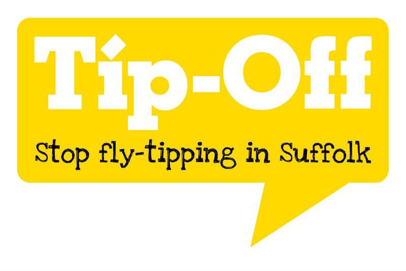 Tip-Off: Stop fly-tipping in Suffolk logo